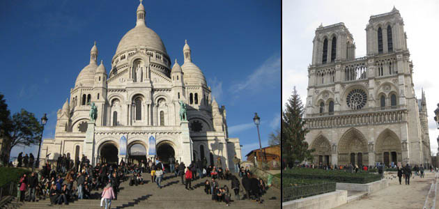 Montmatre and Notre-Dame